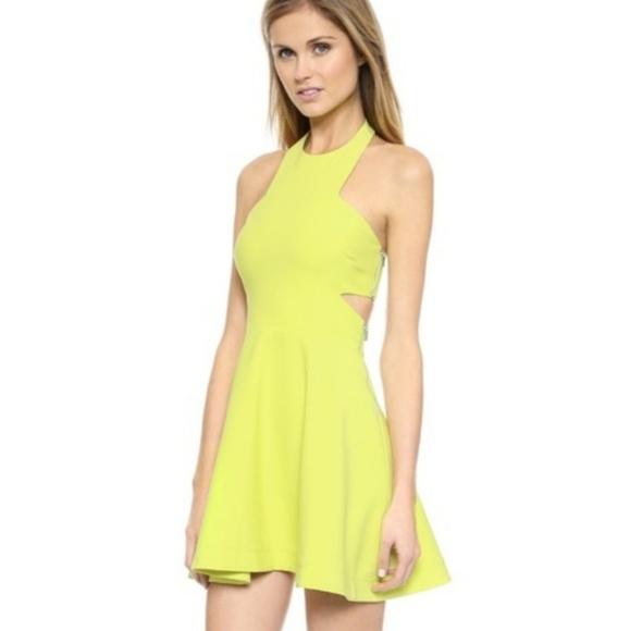 7df318e54 Elizabeth and James Dresses & Skirts - Elizabeth & James Darrien Neon  Yellow Cutout Dress